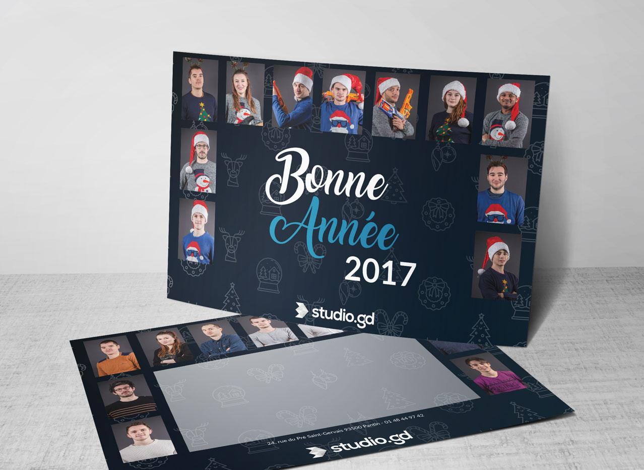La carte de voeux 2017 de Studio.gd